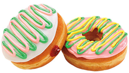 Pastel donuts from Dunkin Donuts