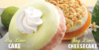Krispy Kreme Summer Key Lime Doughnuts