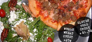Spin gluten-free pizza
