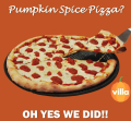 Villa Italian Kitchen Pumpkin Pizza